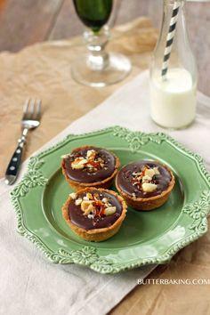 Salted Caramel, Chocolate, Macadamia Praline Tarts | Butter Baking