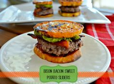 Bacon Bison Sweet Potato Sliders