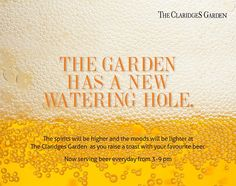 Beat the heat with some chilled beer @ #TheClaridgesGarden, everyday from 3:00 pm - 9:00 pm