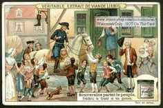 Frederick the Great Visits His Subjects 1910 Card