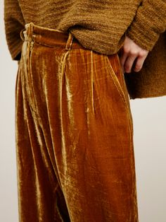 Vincenzo Pants | In a crushed velvet and beautiful jewel tones these ankle pants…