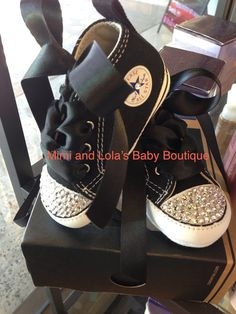 Baby Bling converse crib shoe by MimiandLolas on Etsy, $49.00
