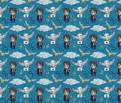 Wizard School Student dark blue custom fabric by koko_bun for sale on Spoonflower My Design, Custom Design, Wizard School, Blue Fabric, Creative Business, Custom Fabric, Spoonflower, Fabric Design, Craft Projects