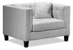 Living Room Furniture - Astin Chair and a Half - Grey