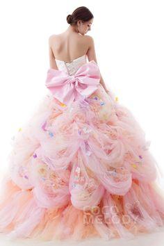 胸きゅんドレスが5万円から♡リーズナブルなのにすべてが可愛すぎる『ココメロディ』のドレスカタログ♩にて紹介している画像 Pretty Quinceanera Dresses, Pink Prom Dresses, Ball Dresses, Evening Dresses, Wedding Dresses, Sweet 16 Dresses, Pretty Dresses, Couture Dresses, Fashion Dresses