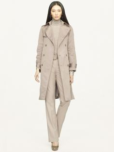 Cynthia Trench Coat - Black Label  Outerwear - RalphLauren.com