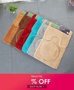 Plush Solid Color Toilet Set Seat Cover Rug Potty Sets Thick Toilet Ring Set Bathroom Mat is fashionable and cheap, come to NewChic to see more trendy Plush Solid Color Toilet Set Seat Cover Rug Potty Sets Thick Toilet Ring Set Bathroom Mat online. Colored Toilets, Toilet Ring, Mat Online, Tapis Design, Bath Rugs, Bath Linens, Bathroom Sets, Bathrooms, Floor Mats