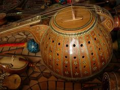 Musical Instruments Detail | The inlay is make of camel bone… | Flickr
