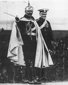 The Kaiser on manouevres, Winston Churchill looks on