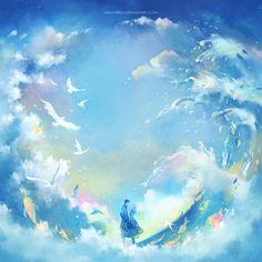 sea and sky by megatruh on DeviantArt