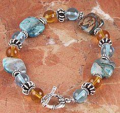 Jewelry Making Idea: Seas and Sunsets Bracelet (eebeads.com)