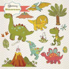 Instant Download Dinoroars Dinosaur Digital by TanglesTreasures, $4.50