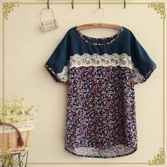 Buy 'Fairyland – Short-Sleeve Lace Panel Top' with Free International Shipping at YesStyle.com. Browse and shop for thousands of Asian fashion items from China and more!