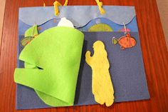 Bible Class Creations: Jonah in felt