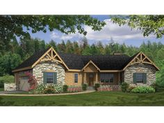 Country House Plan with 2065 Square Feet and 3 Bedrooms from Dream Home Source | House Plan Code DHSW075921