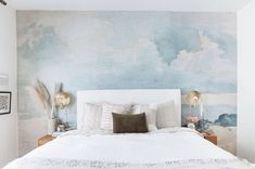 Grey Cloud Wallpaper, Vintage Sky Clouds Mural for Walls Cloud Wallpaper, Watercolor Wallpaper, Wallpaper Murals, Grey Wallpaper, Wallpaper Ideas, Abstract Watercolor, Mid Century Modern Dresser, Places In America, Grey Clouds