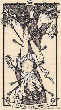 The next three Major Arcana cards - The Hanged Man, Death, and Temperance. I really expected Death to be my favorite of the three, but ended up being really partial to the Hanged Man. Though, I love...