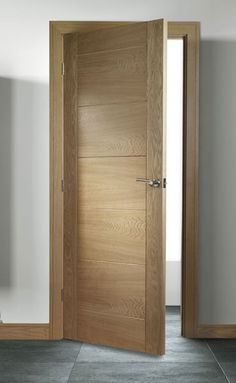 Sevillia Grooved Pre-finished Oak Internal Door - August 28 2019 at Internal Door Frames, Oak Door Frames, Internal Doors Modern, Internal Wooden Doors, Oak Doors, Wood Door Frame, Entry Doors, Prehung Interior French Doors, Oak Interior Doors