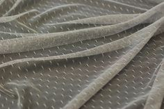 1 Meter of Very Soft Silver Dotted Tulle