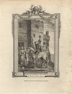 An 18th century depiction of the murder of King Edward the Martyr.