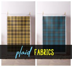 Home Holidays Gift Guide Holiday Gift Guide, Holiday Gifts, Plaid Fabric, Fabrics, Curtains, Shower, Colors, Happy, Modern