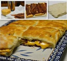 STUFFED BACON AND CHEESE BISCUITS - Topic RECIPES Easy Cheese Biscuits Recipe, Cream Cheese Biscuits, Biscuit Recipe, Cheddar Cheese, Cheddar Biscuits, Egg Biscuits, Cheese Bread, Breakfast Dishes, Breakfast Recipes