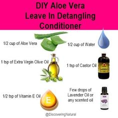 Hair care Ideas : How to create a DIY Aloe Vera Leave In Det.-Hair care Ideas : How to create a DIY Aloe Vera Leave In Detangling Conditioner…. Hair care Ideas : How to create a DIY Aloe Vera Leave In Detangling Conditioner. Tutorial on Disc - Belleza Diy, Tips Belleza, Diy Hair Care, Hair Care Tips, Natural Hair Growth, Natural Hair Styles, Natural Beauty, Diy Cosmetic, Diy Conditioner