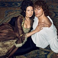 Oh my! He's so beautiful!  But so is she!  Perfect Claire & Jamie!  ❤️