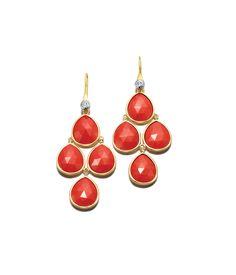 Henri Rocks Coral Chandelier Earrings   Jewelry   Henri Bendel
