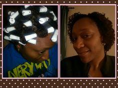 #sisterlocks braid-out w/rollers
