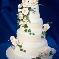 wedding cakes with roses and ivy 3 Wedding Cake Roses, Wedding Cakes, Cake Cookies, Cupcakes, Rose Cake, Ivy, Desserts, Parents, Wedding Ideas