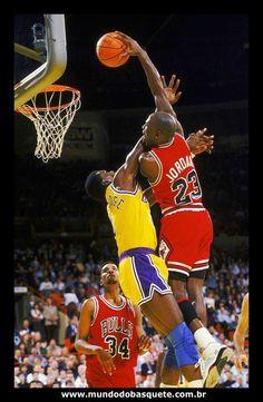 Michael Jordan Dunks On Orlando Woolridge.