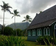 hanalei--where the rainbows and waterfalls flow....see the waterfall...look closer.... :D