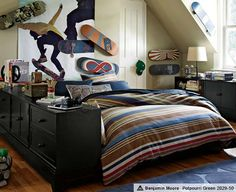 1000 images about teen bedroom style skater on for Boys skateboard bedroom ideas