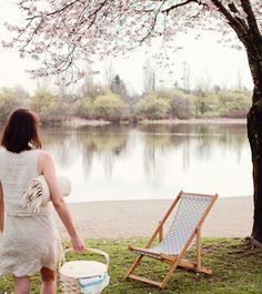Utikuma Deck Chair sling chair handmade outdoor by gallantandjones, $270.00
