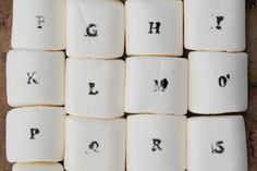 Stamp jumbo marshmallows with food coloring to create extra special hot cocoa toppers.