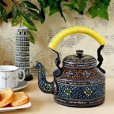Kaushalam Tea Kettle With Yellow Handel - Buy Online in India | Fabfurnish.com [KA809KD42QEJINDFUR]