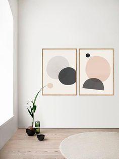 Home decor Abstract print Geometric art Watercolor abstract Wall prints Minimalist art Scandinavian print Set of two Set of prints Abstract Wall Art, Abstract Watercolor, Abstract Print, Geometric Shapes Art, Geometric Designs, Art Minimaliste, Wal Art, Mid Century Art, Art Mural