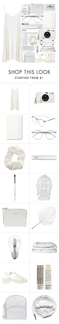 """White Sheets"" by azures ❤ liked on Polyvore featuring Lomography, Moleskine, Wildfox, Topshop, Obsessive Compulsive Cosmetics, CASSETTE, Acne Studios, Maison Margiela, Osram and Brinkhaus"