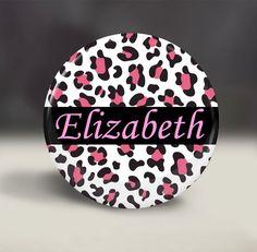 Pocket Mirror  Pink Leopard Print II Personalized by iLoveTrinkets, $4.00