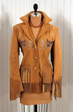 1940s western leather jacket