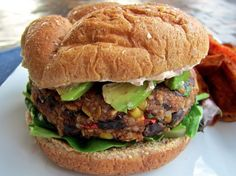 Black Bean & Quinoa Veggie Burgers Recipe | Kitchen Daily - My request for vegetarian BBQ burgers coming up gold!