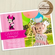 Minnie Mouse Minnie's Bowtique Birthday Party by MamaMoonlights, $12.00