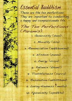 the ten perfections/paramis