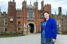 Kirstie Allsopp outside Hampton Court Palace for the press and trade launch