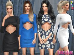 Sims 4 CC's - The Best: Dresses by sims2fanbg