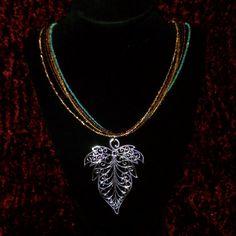 Multi-Strand Silver Leaf Necklace by AdamantArtistry