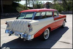 Chevrolet Nomad now this is cool Chevrolet Usa, Chevy Nomad, Pretty Cars, New Trucks, American Muscle Cars, Station Wagon, Buick, Old Cars, Custom Cars