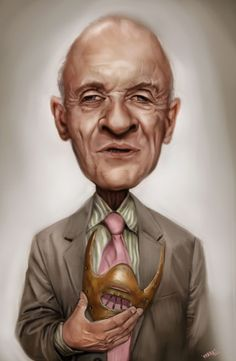 #Caricature: Anthony Hopkins as Hannibal Lecter - http://dunway.com/