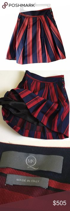 Alexander McQueen plaid navy & red lined skirt ♥️ Gorgeous skirt. Fully lined. Gold buttons on the side.  Size 44 Euro.  100% cotton.  Lining 100% viscoise ♥️♥️ Alexander McQueen Skirts